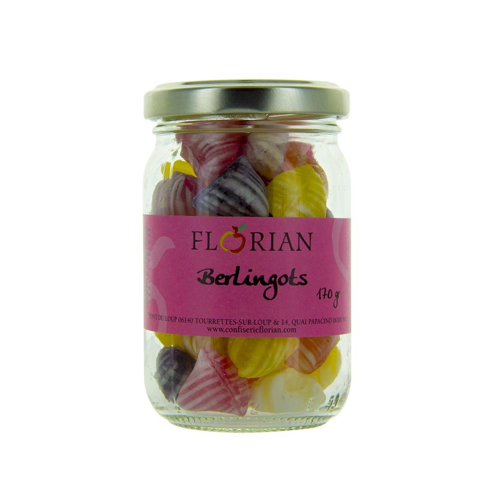 Berlingots fruits et fleurs - Pot 170g