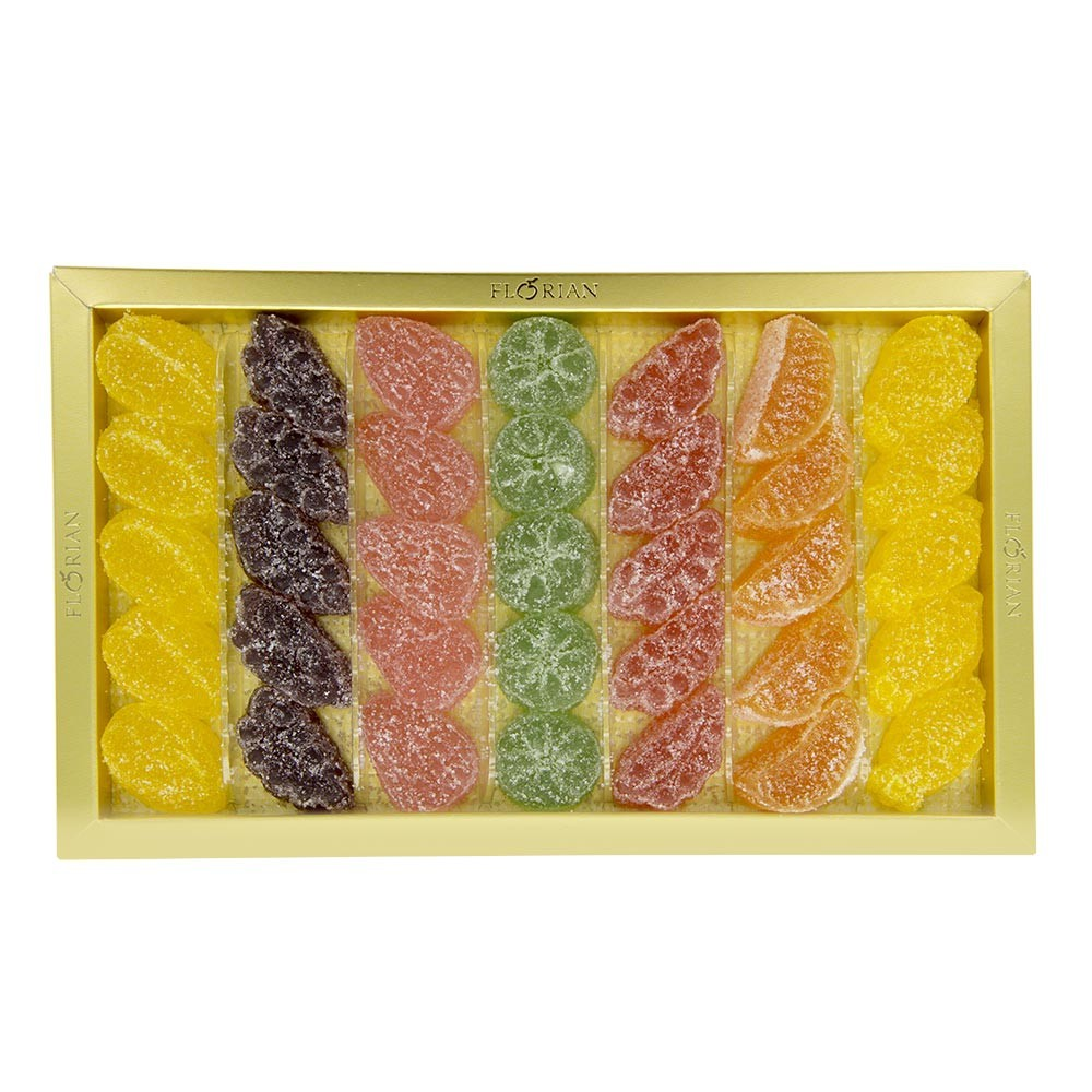 Gels de fruits assortis en Coffret Cadeau